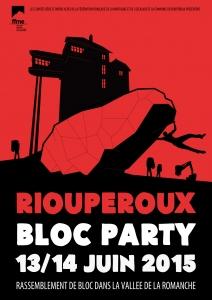 Affiche Bloc Party Rioup