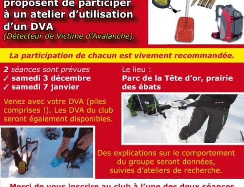 Atelier sur l'utilisation de DVA